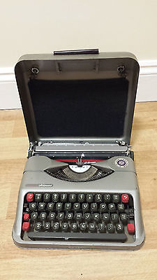 Vintage Empire Aristocrat Portable Typewriter with Case, Used