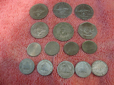 15 Coins from Nicaragua