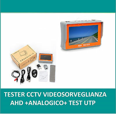 Tester Monitor 4,3 Tft Ahd+ Analogic Cctv Video  Monitor Colori  Tester Utp Lan