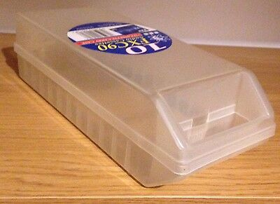 BBC 12 x Audio CASSETTES Tapes Carry CASE; Storage Capacity Holder White FXC90