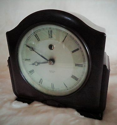 Art Deco Bakelite Clock - Smiths Sectric Autocal Mantle Clock