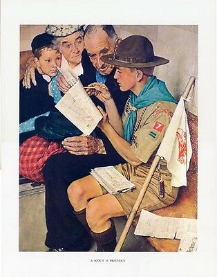 Norman Rockwell Boy Scout Print SCOUT IS FRIENDLY 1943