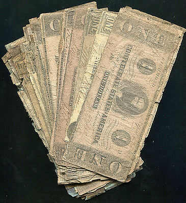 (40) Fourty 1862-1863 $1 One Dollars Csa Confederate States Of America Notes