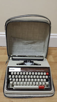 Vintage Brother Deluxe 1350 Typewriter with Case, Used