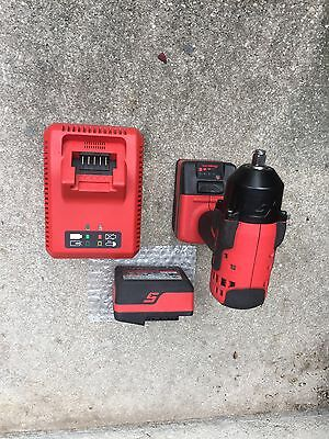 Snap On Cordless 3/8 Drive Impact Gun Wrench Ct8810 Red 2 Batteries