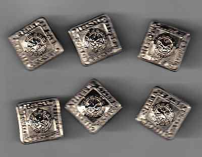 Set Of 6 Pipers Metal Full Size Jacket Buttons