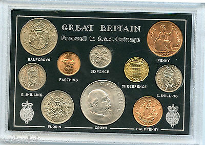 UK Farewell to the pound shilling and pence £ S D Uncirculated Coin Set