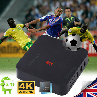 4K M8S MX PRO Android5.1 2.4G WiFi Fully Loaded Quad Core TV Box Free Sports UK