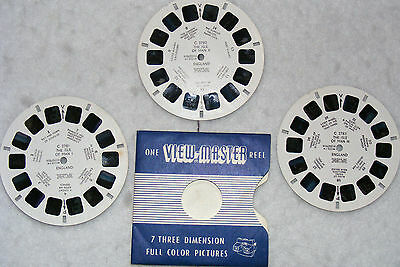 View-Master reels,set of 3,England,No'sC2781,C2782 & C2783, all of Isle of Man