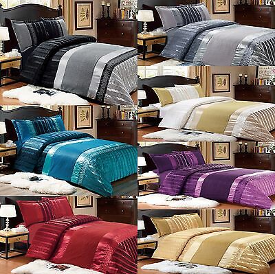 Luxurious 3Pcs Satin Jacquard Quilted Bedspread Set With Pillow Shams - Emily