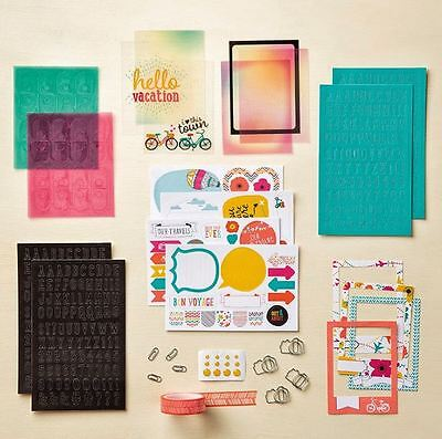 retired Stampin Up LET'S GET AWAY Project Life Accessory Kit ~ NIP Scrapbooking