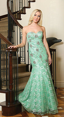 Sale ! Mermaid Lace Evening Gown Prom Special Occasion Sweet 16 Dress Under $100