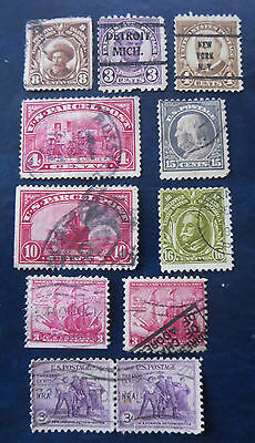 Usa Stamps Old Lot Of Used