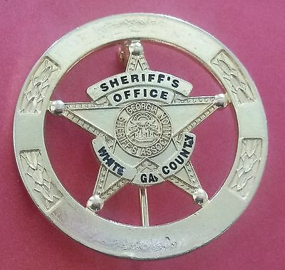 unfinished White County Georgia Sheriff's Office Badge HALLMARKED OLD/OBSOLETE