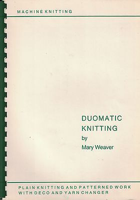 Passap Duomatic Knitting by Mary Weaver - Spiral Bound Book
