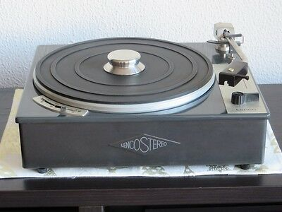 Lenco L 70 Plattenspieler Turntable - Very rare in the original metallic plinth