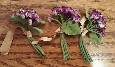 Vintage Silk Millinery Flowers, Made in Germany, Lot of 3
