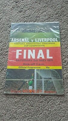 1971 Arsenal v Liverpool Final Programme fa cup