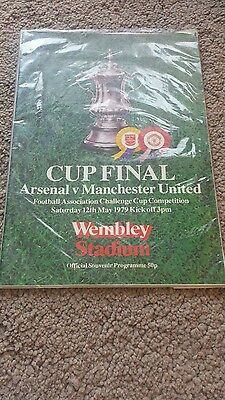 1979 Arsenal v Manchester Programme fa cup final football