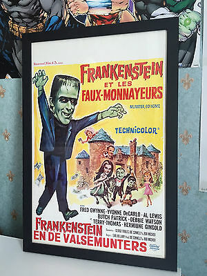Munster Go Home Original 1966 Horror Comedy Belgian Movie Poster - Framed