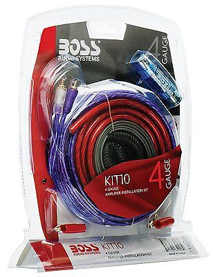 BOSS Cable Car Audio Kit 4 Gauge Amp Amplifier Install Wiring RCA Interconnect