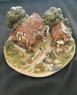 """Danbury Mint Jane Hart """"the Old Mill"""" Sculpture - The Country Village"""