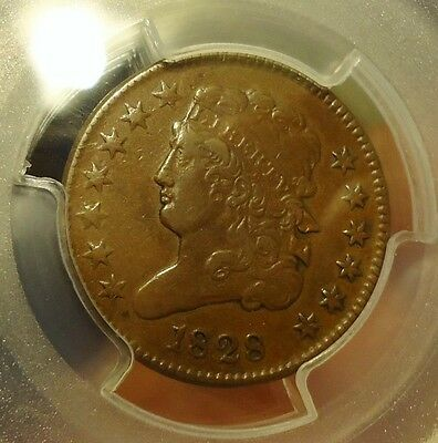1828  PCGS  XF 40  Classic Head Half Cent (13 Stars) Listed at $160.00  V. Nice