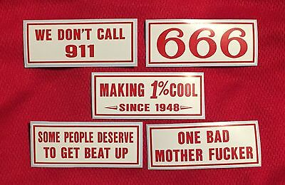 HELLS ANGELS DENVER SUPPORT STICKER PACK #3 Colorado Red & White 81