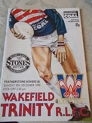 19.2.92 Wakefield Trinity v Widnes rugby league programme