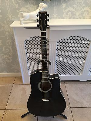 CHASE Handmade Acoustic / Electric Guitar SW203CE/BK Midnight Blue / Black