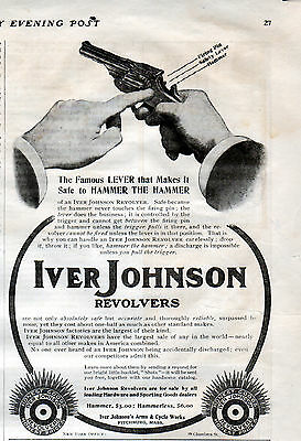 1904 Iver Johnson Revolver ad -Iver Johnson's Arms & Cycle Works ---k120