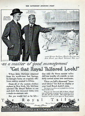 1914 Royal Tailors Ad Endorsed by---- Connie Mack &  John McGraw -----j722