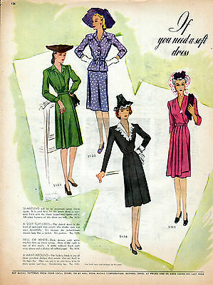 McCalls clothing ad for Patterns ad to buy --634