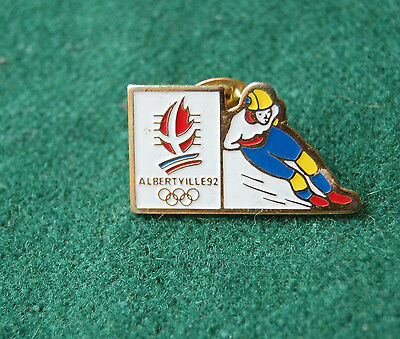 Albertville 92 Olympic Winter Games Pin Badge - Snowboarding/Skiing? Souvenir