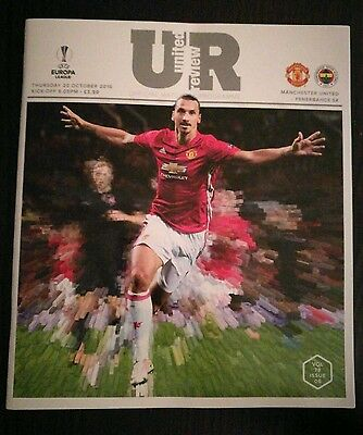 Manchester United v Fenerbahce 2016/17 brand new football programme