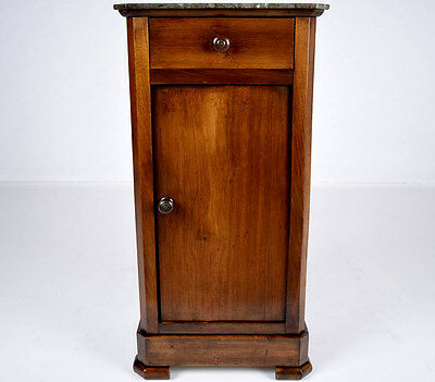Unique French 19th Century Walnut Louis Philippe Night Stand Beautiful Patina