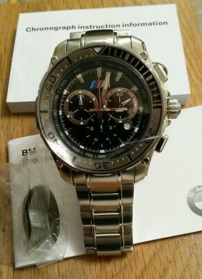 BMW M Stainless Steel Chronograph Watch 80262365454 IDEAL XMAS PRESENT *NEW*