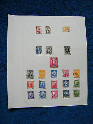Ten Old Album Pages with Colombia Stamps [B].