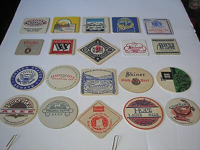 20 different U.S. beer coasters mostly micro.'s from the 1990's