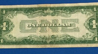 "1928A $1 Blue ""FUNNY BACK"" SILVER Certificate X220 Old US Paper Money Currency!"