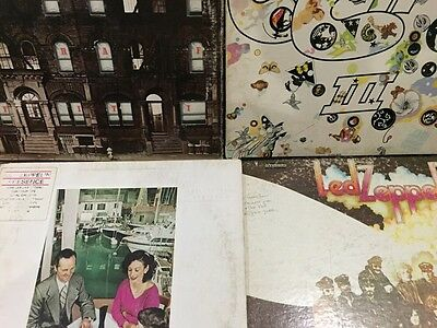 Stunning Led Zeppelin 4 Vinyl LP Collection G/VG