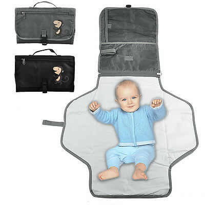 Hot Sale Baby Change Kit Portable Nappy Travel Folding Changing Mat & Wipes Case