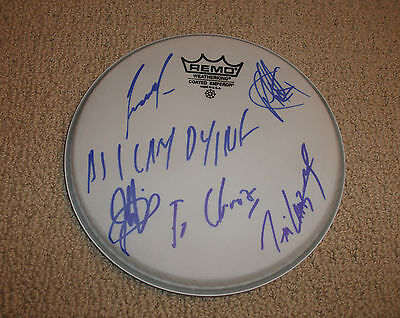"""As I Lay Dying - Signed 8"""" Drumhead *Band Autographed* Metal"""