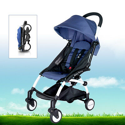 Blue Foldable Baby Pushchair Stroller Infant Umbrella Ride-On Prams Carriage US
