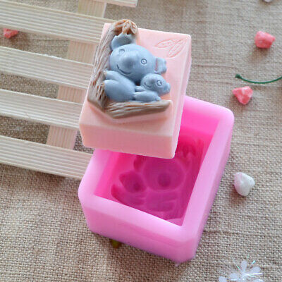 2D Koala Silicone Soap Mold Candle Molds DIY Making Tools Chocolate Resin