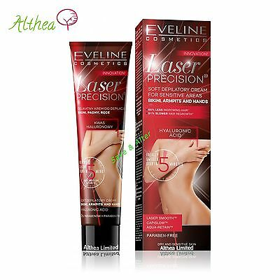 Laser Precision Hair Removal CREAM 4 SENSITIVE Skin & INTIMA AREA BIKINI Eveline