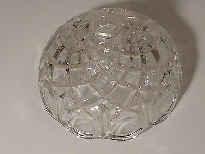 "VTG Clear Lamp Part LIGHT SHADE  -  - 6"" Dia Cut Glass - Beautiful Crystal"