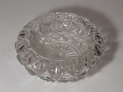 "VTG Clear Lamp Part LIGHT SHADE  -  - 8"" Dia Cut Glass - Beautiful Crystal"