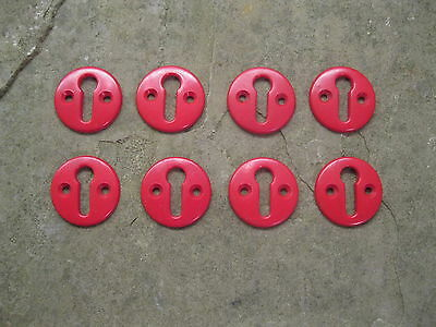 Original Bakelite Red Key Hole Escutcheon  KH1