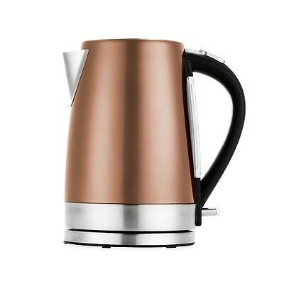 Stainless Steel Kettle Copper Gold 1.7L 2200W Kitchen Kettle Electric